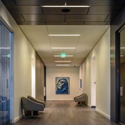 9Wood 4300 Lift & Lock Tile at the Hotel Eastlund, Portland, Oregon. Holst Architecture.