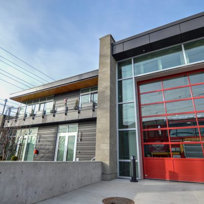 2100 Panelized Linear at Fire Station 20 in West Queen Anne, Seattle, Washington.  Schacht Aslani Architects.