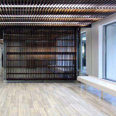 9Wood 1100 Cross Piece Grille at 45 Balliol Street, Toronto, Ontario. Kohn Schnier Architects.  Photos by Rick O'Brien.