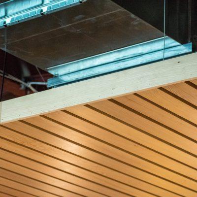 9Wood 2100 Panelized Linear at MOD Pizza, Eugene, Oregon.  Graphite Design Group.