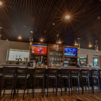 9Wood 1100 Cross Piece Grille at the Holiday Inn, Daytona Beach, Florida. Architectural Design + Associates.