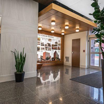 9Wood 4500 XL Channel Tile at the Colorado Building, Boulder, Colorado. STUDIO Architects.