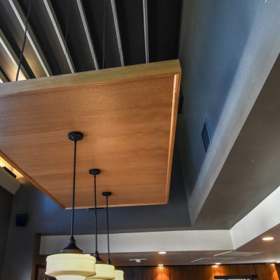 9Wood 3100 Acoustic Plank at the University Place Starbucks, Sarasota, Florida. Callison Architecture.