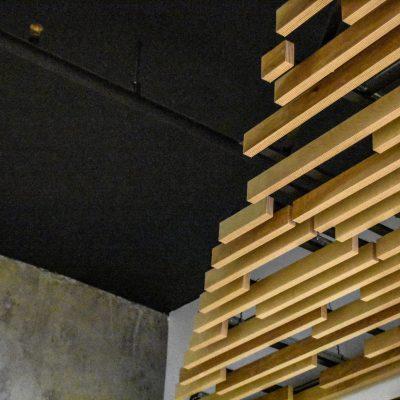 9Wood 1100 Cross Piece Grille at the Modera Capitol Hill, Seattle, Washington. Studio Meng Strazzara.