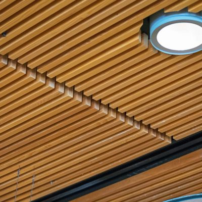 9Wood 1100 Cross Piece Grille at the Denver Botanic Gardens, Denver, Colorado. Tryba Architects.