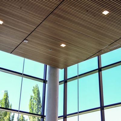 9Wood 2100 Panelized Linear at Oregon Museum of Science and Industry, Portland, Oregon. Dangermond Keane Architecture.