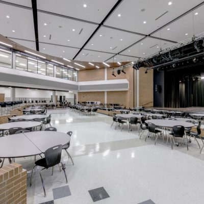 9Wood 2300 Continuous Linear at Shepton High School, Plano, Texas. VLK Architects.