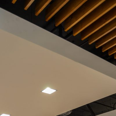9Wood 1100 Cross Piece Grille at the Marina Heights Building D, Tempe, Arizona.  Davis Architects.