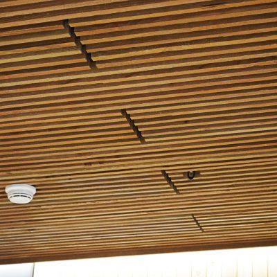 1100 Cross Piece Grille at the Burnside Bridgehead, Portland, Oregon.  Skylab Architecture.