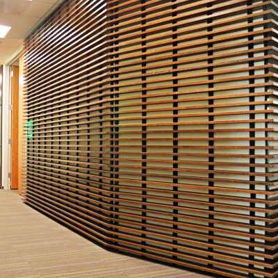 1100 Cross Piece Grille at the CorVel Corporation Suite, Portland, Oregon. GBD Architects.