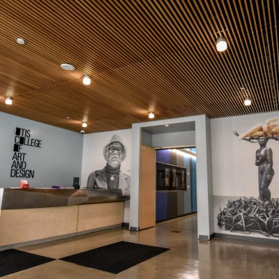 1100 Cross Piece Grille at Otis College, Los Angeles, CA. Ehrlich | Fisher.