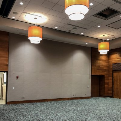 2700 Kerf Reveal Linear at Lanier Tech College Conference Center, Gainesville, Georgia. Stevens & Wilkinson Architects.