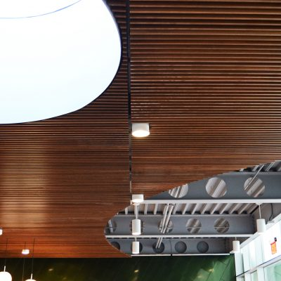 1100 Cross Piece Grille at the Center for Blind Children, Phoenix, Arizona. Smithgroup.