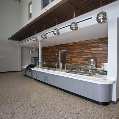 9Wood 1500 Baffle at the Viking Group Headquarters, Caledonia, MI. Byce & Associates.