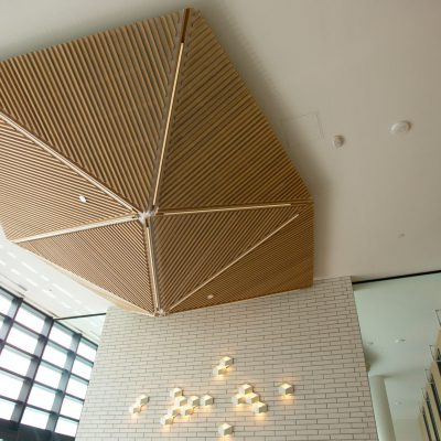 9Wood 1100 Cross Piece Grille at the UBC Gage South Residence Hall, Vancouver, BC. Dialog.