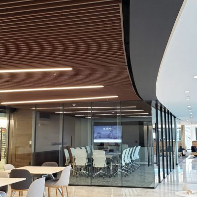 9Wood 1100 Cross Piece Grille at the IA Office, Washington, DC. IA Interior Architects.