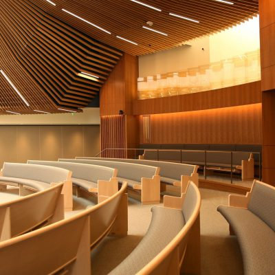 9Wood 1100 Cross Piece Grille at Temple Beth Am, Los Angeles, CA. HCL Architecture.