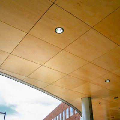 9Wood 4500 XL Channel Tile at the Providence Newberg Hospital, Newberg, Oregon. Mahlum Architects.