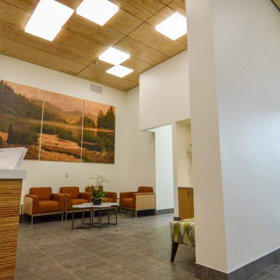 9Wood 4400 Torsion Spring Tile at the Roseburg Forest Products office, Springfield, Oregon. Rowell Brokaw.