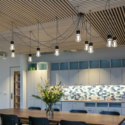 9Wood 1100 Cross Piece Grille at the Travel Portland office, Portland, Oregon. IA Interior Architects.