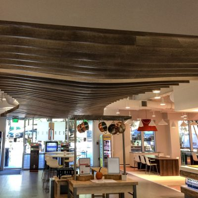 9Wood 1500 Baffle at the Compass Connection Cafe, Charlotte, NC. Gensler.