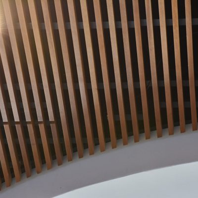 9Wood 1100 Cross Piece Grille at the Pioneers Fletcher Center, Orlando, Florida. BGW Architects.