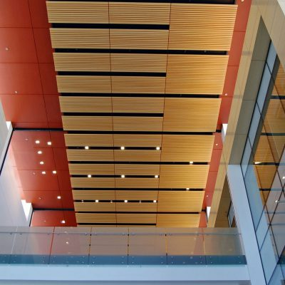 9Wood 2100 Panelized Linear at the Stanford School of Medicine SIM 1, Stanford, CA. ZGF.