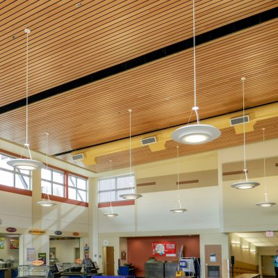 9Wood 2300 Continuous Linear at the West Salem Elementary School, Salem, Oregon. Soderstrom Architects.