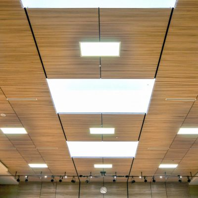 9Wood 1100 Cross Piece Grille at the Christ Worship Centre, Surrey, BC. Acton Ostry Architects.