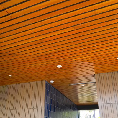 9Wood 2300 Continuous Linear at the UCLA Hitch Suites, Los Angeles, CA. Steinberg Architects.