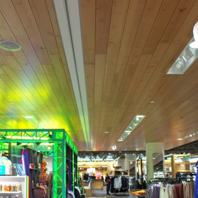 9Wood 2700 Kerf Reveal at Nordstrom - Downtown Seattle, WA. Callison Architects.