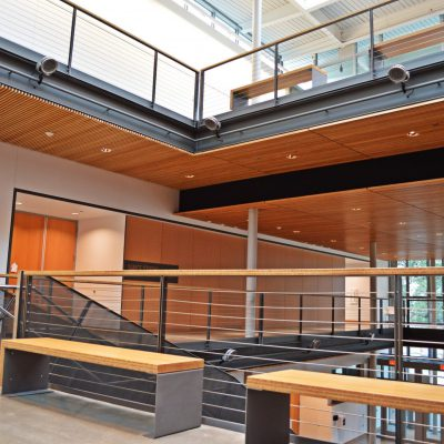 9Wood 1100 Cross Piece Grille at Reed College - Performing Arts, Portland, OR. Opsis Architecture.