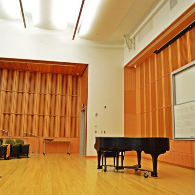 9Wood 5100 Parallel Perf Tile at Reed College - Performing Arts, Portland, OR. Opsis Architecture.