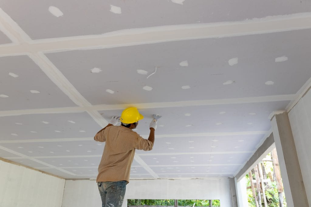 conventional ceilings are usually drywall or other economical ply board.