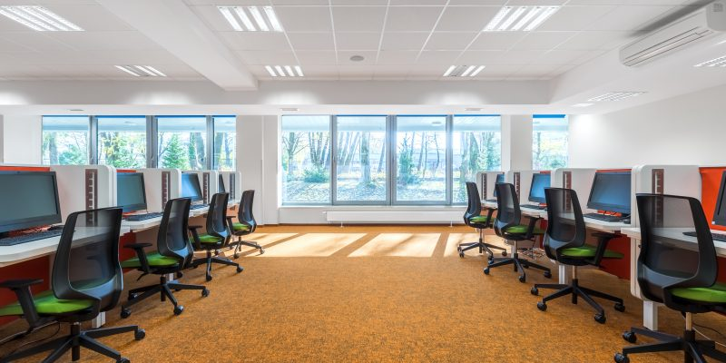 Mineral fibers are pretty common for office spaces. They are easily recognizable with the suspended square white panels that usually line cubicle work spaces.
