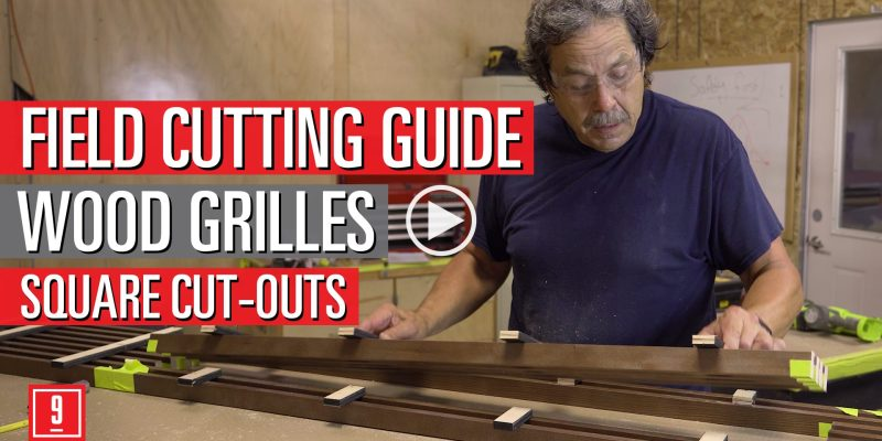 Square cut-outs for wood grille ceilings performed by our in house expert