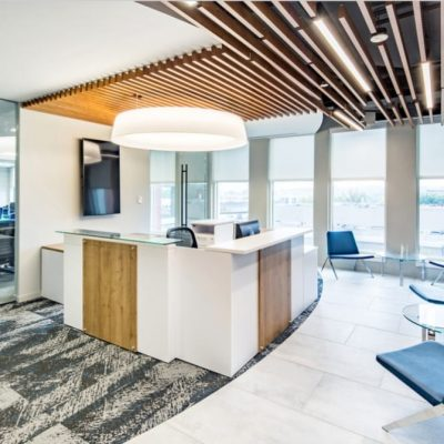 9Wood 1100 Cross Piece Grille at Riverbed Technologies, Bethesda, Maryland. GTM Architects.
