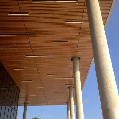 9Wood 2100 Panelized Linear at McKinney High School, McKinney, Texas. Stantec.