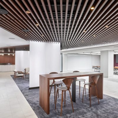 An example of a suspended ceiling in an office environment.